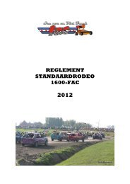Standaard 1600 - FAC autocross