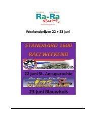 Weekendprijzen 22 + 23 juni - FAC autocross