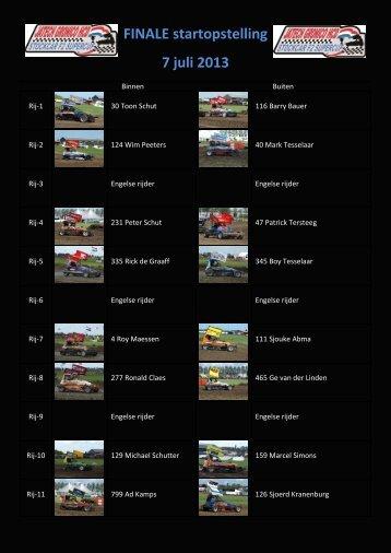 FINALE startopstelling 7 juli 2013 - FAC autocross