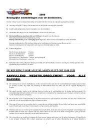 de keuring voor alle klassen sluit om 11.00 uur ... - FAC autocross