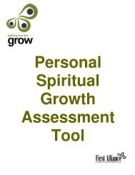 personal spiritual growth assessment