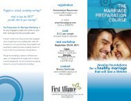Engaged or seriously considering marriage? - First Alliance Church