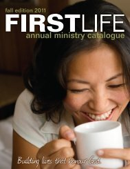 FIRSTLIFE Ministry Catalogue 2010 - First Alliance Church