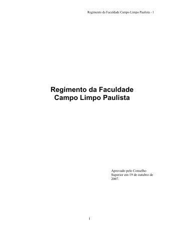 Download do Regimento - Faccamp