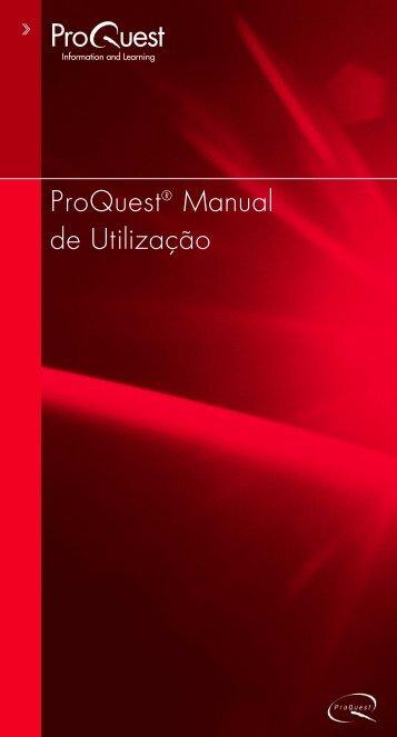 Manual de utilização do ProQuest. - Faccamp