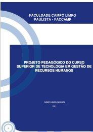 Projeto pedagógico - Faccamp