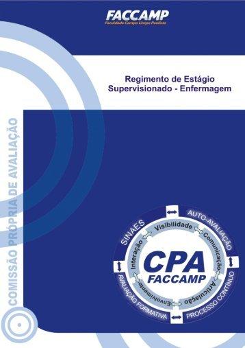 Regimento de estágio supervisionado - Faccamp