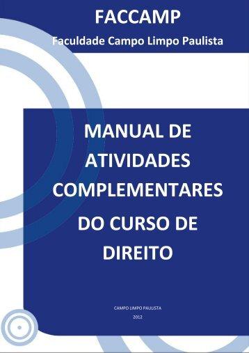 FACCAMP MANUAL DE ATIVIDADES COMPLEMENTARES DO ...