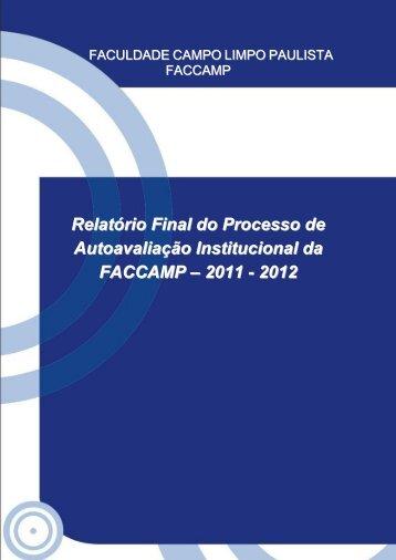 Relatório SINAES 2011-2012 - Faccamp