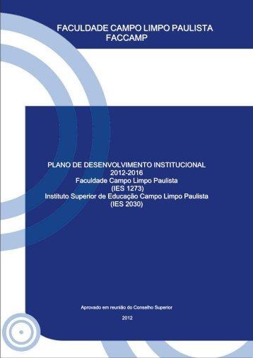Plano de Desenvolvimento Institucional - Faccamp