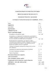 Instrumentos Financeiros: Apresentação - Comitê de ...