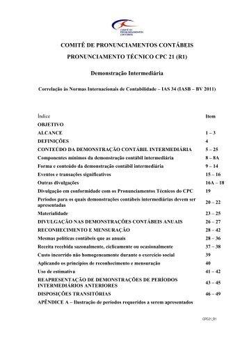 CPC 21 (R1) - Comitê de Pronunciamentos Contábeis