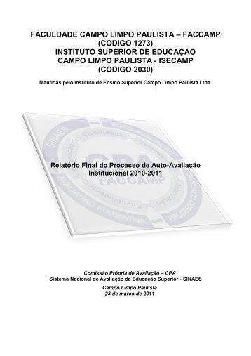 Relatório SINAES 2010 - 2011 - Faccamp