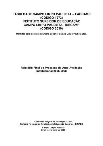 Relatório 2008 - Faccamp