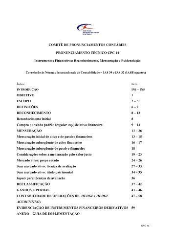 CPC 14 - Comitê de Pronunciamentos Contábeis