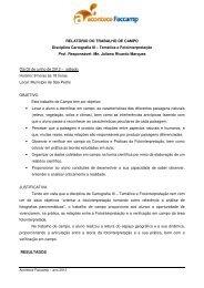 RELATÓRIO DO TRABALHO DE CAMPO Disciplina ... - Faccamp