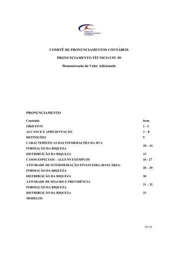 CPC-09 - Comitê de Pronunciamentos Contábeis