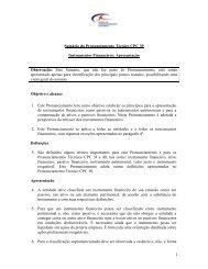 1 Sumário do Pronunciamento Técnico CPC 39 Instrumentos ...