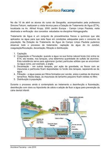 Tratamento de Agua - ETA - Faccamp