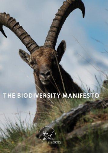 The Biodiversity Manifesto - PDF - FACE