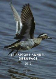 LE RAPPORT ANNUEL DE LA FACE 2012