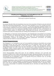 Erhaltung und Management von Großraubtieren in der EU - FACE