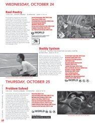 WEDNESDAY, OCTOBER 24 THURSDAY, OCTOBER 25 - Facets