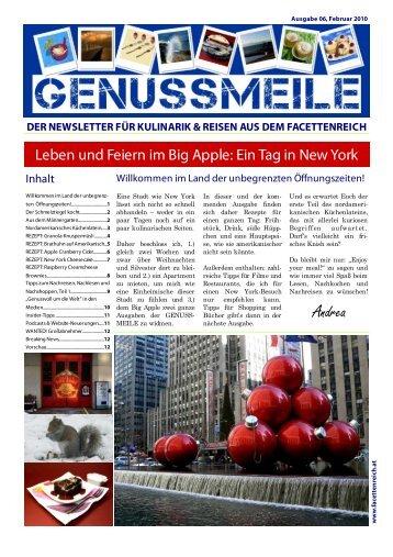 der newsletter für kulinarik & reisen aus dem - im Facettenreich