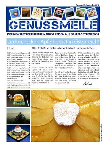 Lecker, lecker: Apfelherbst in Österreich! - im Facettenreich