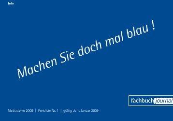 Machen Sie doch mal blau ! - Fachbuch-Journal