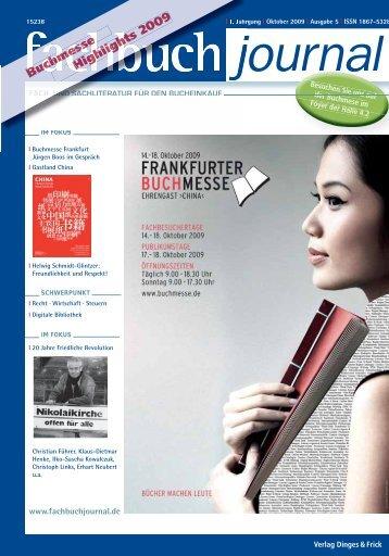 Buchmesse Buchmesse 9 Highlights 2009 ... - Fachbuch-Journal