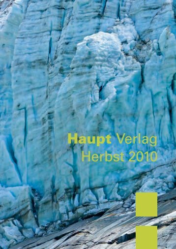 Haupt Verlag Herbst 2010 - Fachbuch-Journal