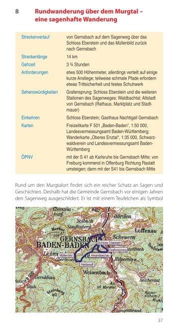 8 Rundwanderung über dem Murgtal – eine ... - Fachbuchquelle