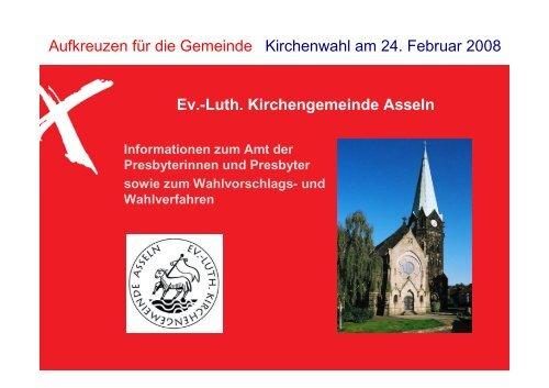 Das Amt einer Presbyterin oder eines ... - Kirchengemeinde Asseln