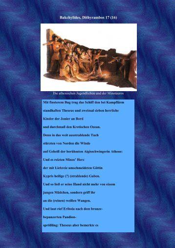Bakchylides, Dithyrambos 17 (16)