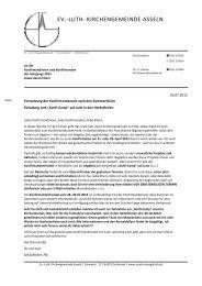 Informationsbrief zum Konfirmandenunterricht des Jahrgangs 2013 ...