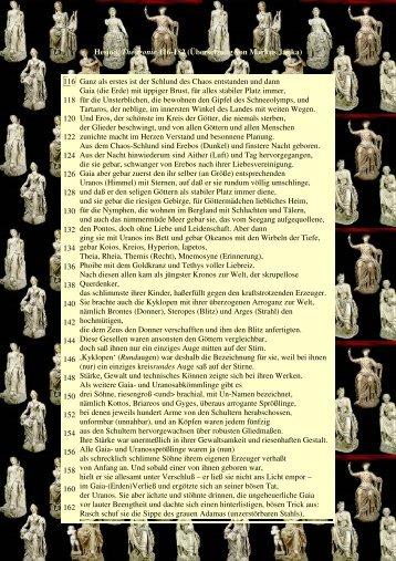 Hesiod, Theogonie 116-182 (Übersetzung von Markus Janka) 116 ...
