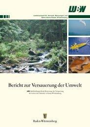 Bericht zur Versauerung der Umwelt - Baden-Württemberg