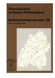 Bodenschutzprogramm ´86 Baden-Württemberg