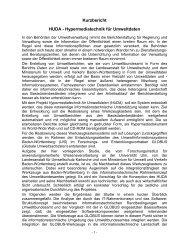 Hypermediatechnik für Umweltdaten - Baden-Württemberg