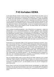 F+E-Vorhaben KEWA - Fachdokumente Online - Baden-Württemberg