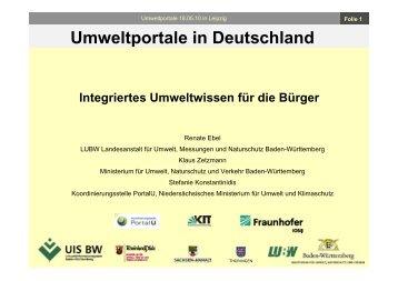 Umweltportale in Deutschland - Fachdokumente Online - Baden ...