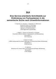 SUI für Umweltportale - Baden-Württemberg
