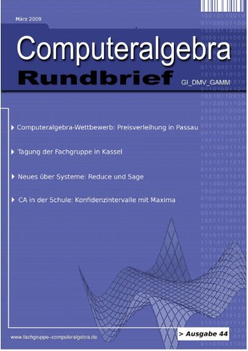 Konfidenzintervalle und CAS - Fachgruppe Computeralgebra