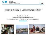 """Soziale Sicherung in """"Entwicklungsländern"""" - Fachhochschulen in ..."""