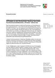 Download Pressemitteilung - Fachhochschulen in NRW