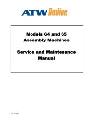 SECTION 2 MAINTENANCE INSTRUCTIONS - Assembly-Testww.com