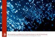 Die nordrhein-westfälischen Fachhochschulen in der EU-Forschung