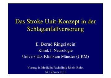 Vortrag Prof.Dr. Ringelstein - MediClin Fachklinik Rhein-Ruhr