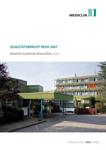 Qualitätsbericht Reha 2007 - MediClin Fachklinik Rhein-Ruhr